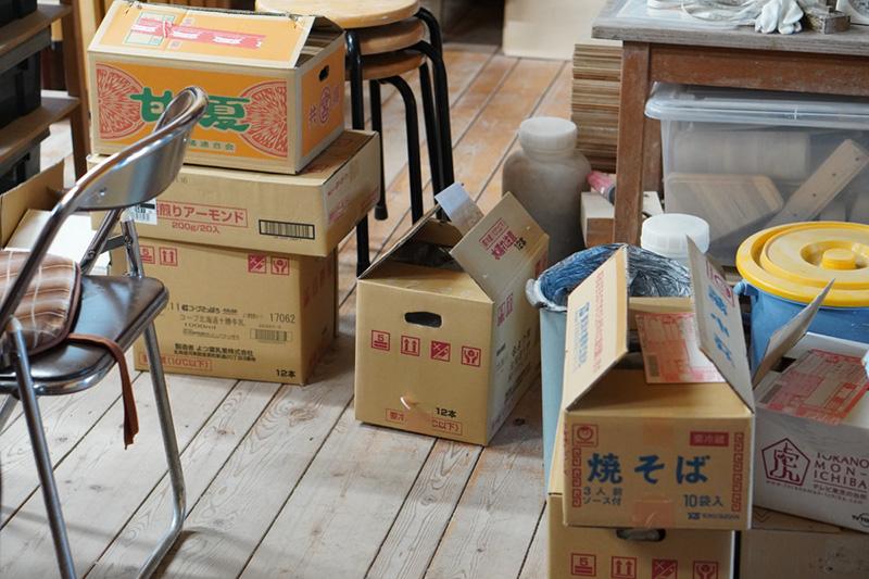 荷物の発送準備