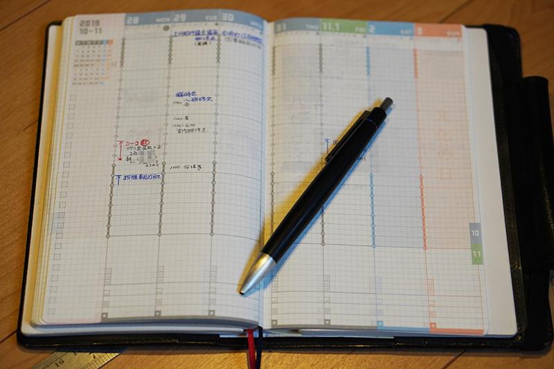 現在の手帳