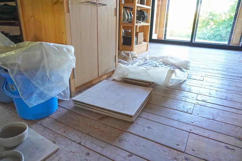 陶芸教室の準備