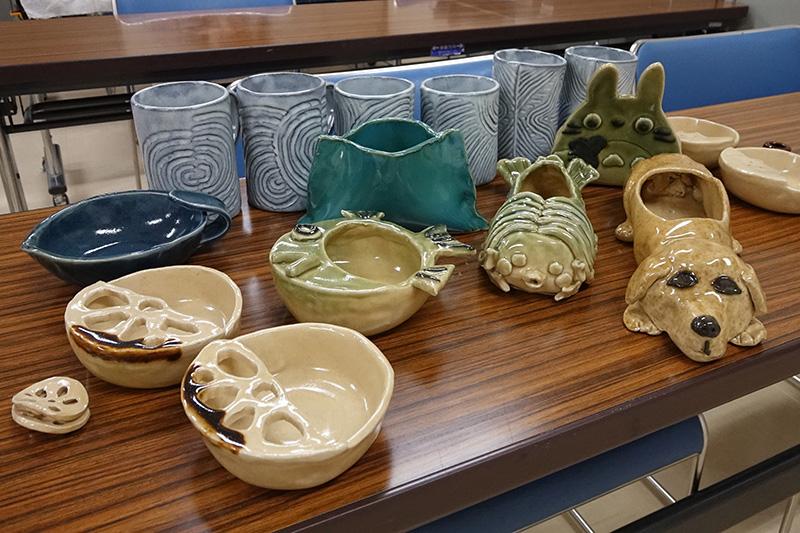 陶芸教室の作品